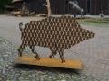 Grenzkeiler 2017 (Gut Herbigshagen Heinz Sielmann Stiftung) Stahl 160 cm