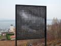 Strukturwandel 2018 (Mücheln Geiseltalsee) Stahl, Edelstahl 120x120 cm