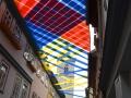 Gewebter Himmel 2019 (Erfurt) gespannte Stoffbänder ca. 5 x 70 m