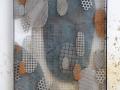 Zellen 2019 Stahl Edelstahl 121 x 84 cm