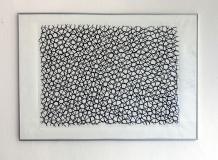 Gitternetz 2016, Kohle auf Papier, 84 x 120 cm