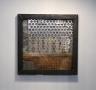 Human 2018, Metallcolage, Stahl, Edelstahl 50 x 50 cm
