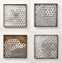 Thumbs 1-4, 2018 Metallcollagen, Stahl, Edelstahl, Messing 25 x 25 cm